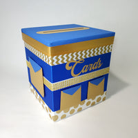 Blue & Gold Royal Prince Baby Shower Card Box