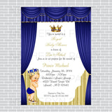 Royal Prince Baby Shower Invite - Blue, Gold