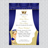 Royal Blue and Gold Little Prince Invite