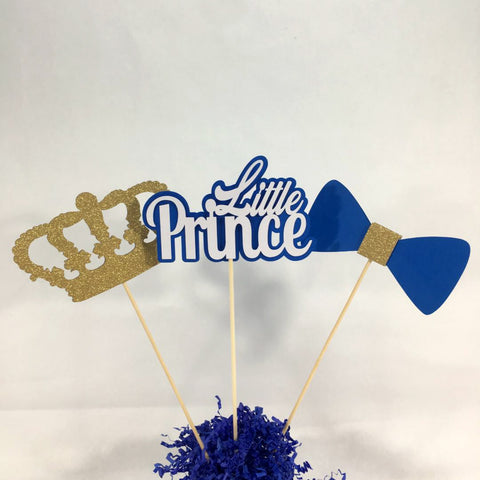 Little Prince Centerpiece Sticks - Royal Blue
