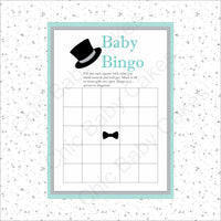 Printable Little Man Baby Shower Game Pack - Teal, Gray