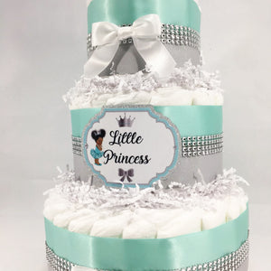 Robin & Silver Little Princess Baby Shower Diaper Cake