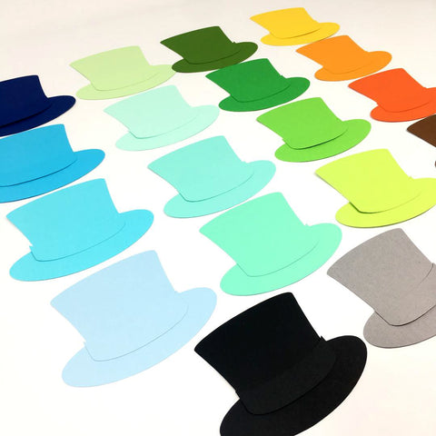 Paper Top Hat Cutouts