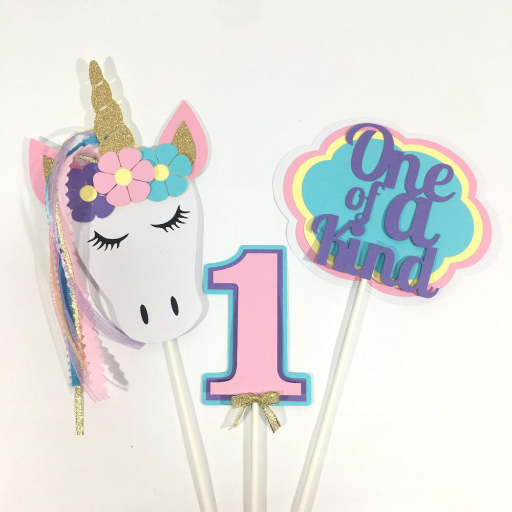 One of a Kind Unicorn Cake Toppers