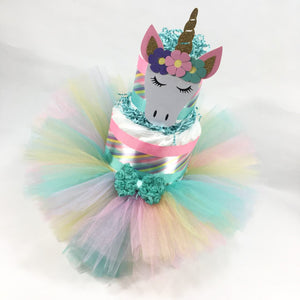 Unicorn Princess Tutu Diaper Cake
