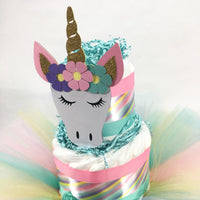 Unicorn Diaper Cake Topper