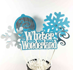 Winter Wonderland Centerpiece Sticks