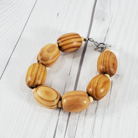 Natural Faux Wood Beaded Jewelry Set