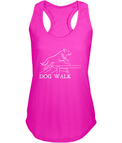 Dog Agility Ladies Racer-Back Vest Top - Dog Walk