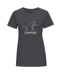 Dog Agility Ladies Regular Fit T-Shirt - Jumping