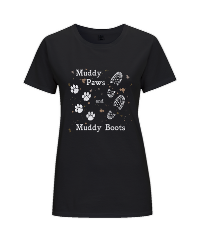 Muddy Paws and Muddy Boots  Ladies Regular Fit T-Shirt