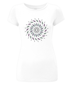 Arrow Mandala Ladies Slim-Fit T-shirt