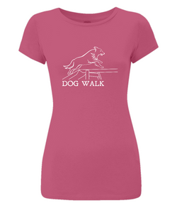 Dog Agility Ladies Slim-Fit T-Shirt - Dog Walk