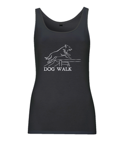Dog Agility Ladies Vest Top - Dog Walk