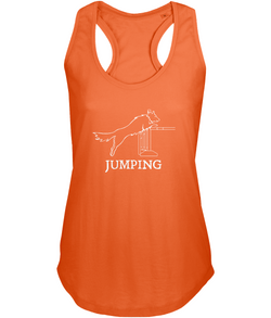 Dog Agility Ladies Racer-Back Vest Top - Jumping