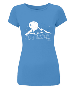 Mountain Camping Ladies Slim-Fit T-Shirt