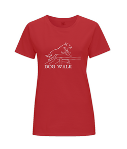 Dog Agility Ladies Regular Fit T-Shirt - Dog Walk