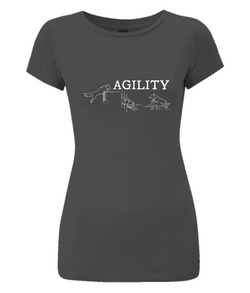 Dog Agility Ladies Slim-Fit T-Shirt
