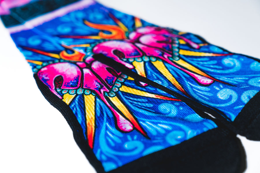 Mexican Art Socks - Sacred Heart by Pepe Nino