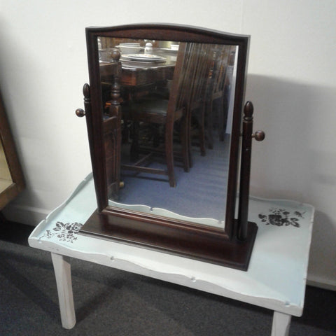 Stag dark Solid wood dressing table mirror