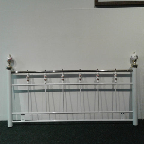 White Metal Double Headboard