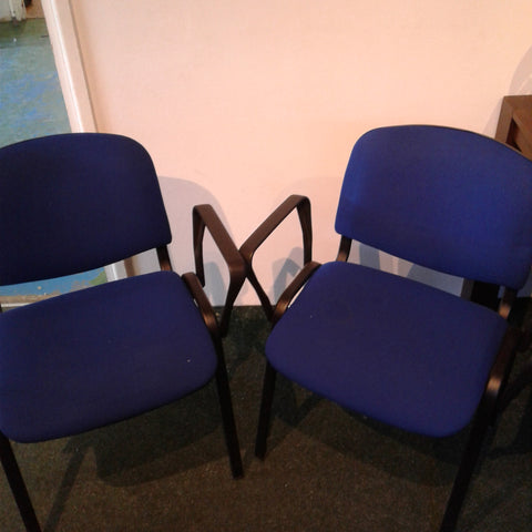 Pair of Blue Office Chairs