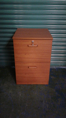 Brown Lockable Filing Cabinet
