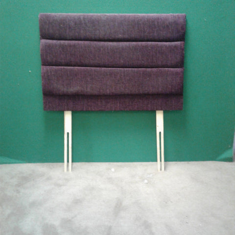 Dark Purple Fabric Single Headboard