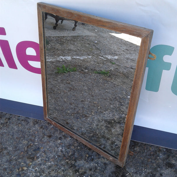 Vintage Dark wood framed wall mirror