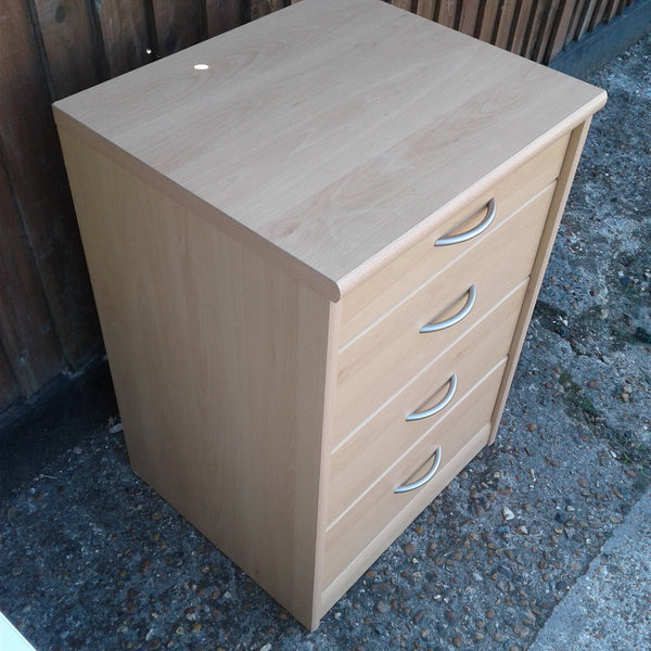 Beech Effect Tall Chest of Drawers