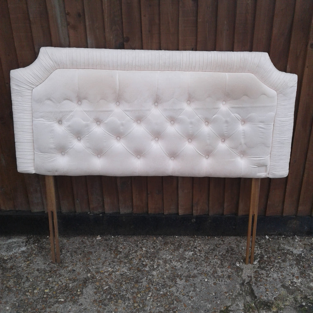Cream Fabric Double Headboard