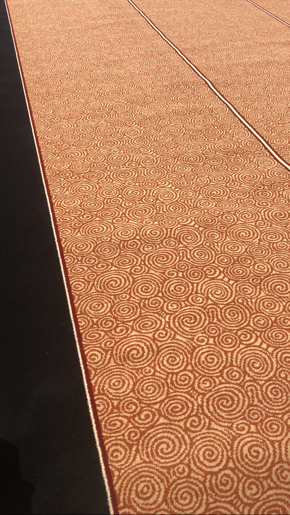 14 Black Border Edge Gold Swirl Carpet