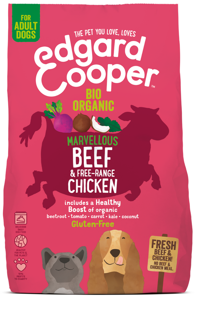 Fresh Organic Beef & Free range Chicken - with organic beetroot, coconut & kale