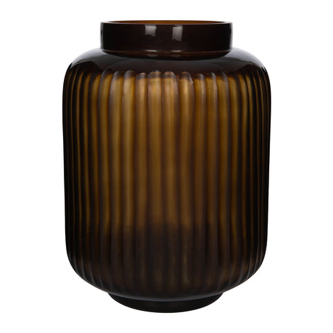 Dark Amber Vase White Punch