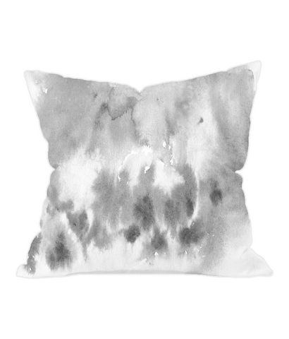 Grey Watercolour Throw Cushion