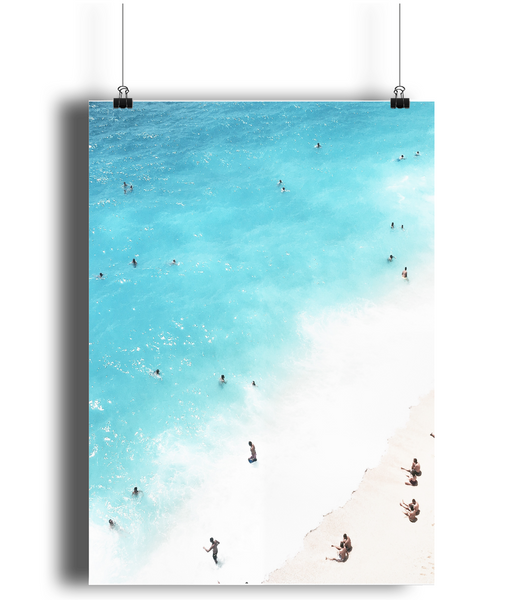 Beach poster print from White Punch UK