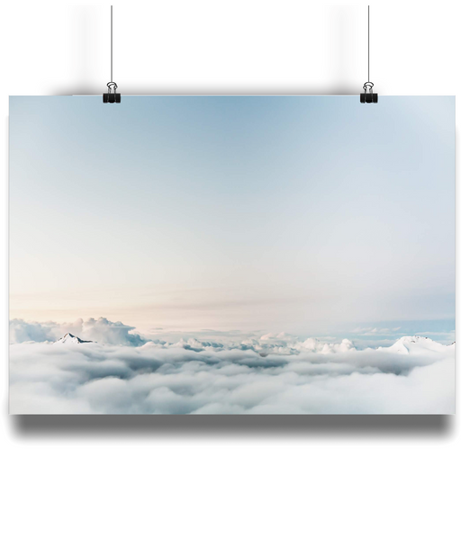 Dream of Clouds Poster Print from White Punch