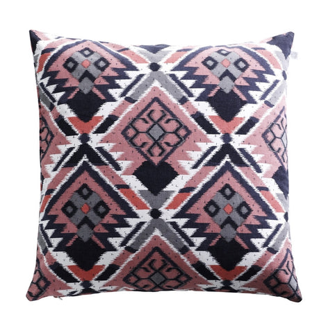 Aztec print cushion, coral, from White Punch UK