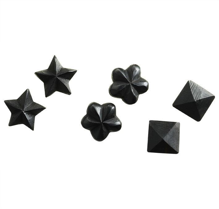 Black Star, Flower and Stud earrings