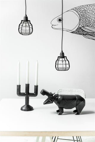 Black ceramic candle holder from White Punch