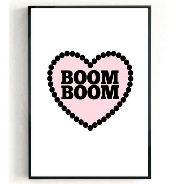 Boom Boom Love Heart Print from White Punch