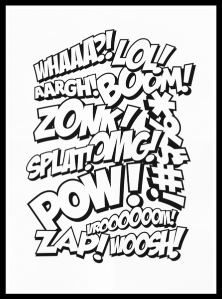 Comic Superhero Sound Print from White Punch