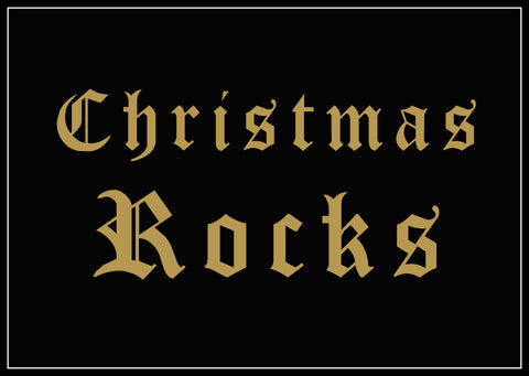 Christmas Rocks Black Giclee Print