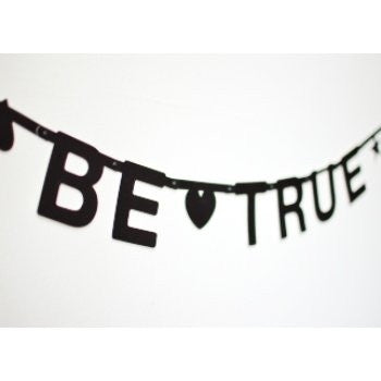 DIY Word Banner Black