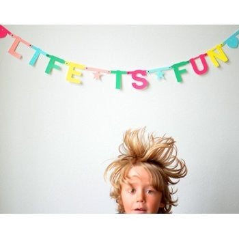 Make Your Own DIY Word Banner Multicoloured