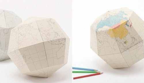 DIY Sectional Globe from White Punch