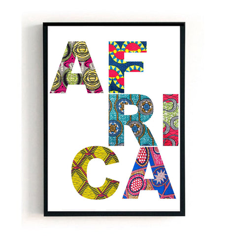 Africa Wax Print Poster Print