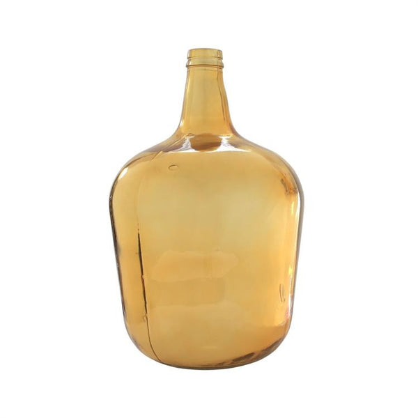 Large Gold Carafe Glass Bottle from HK Living
