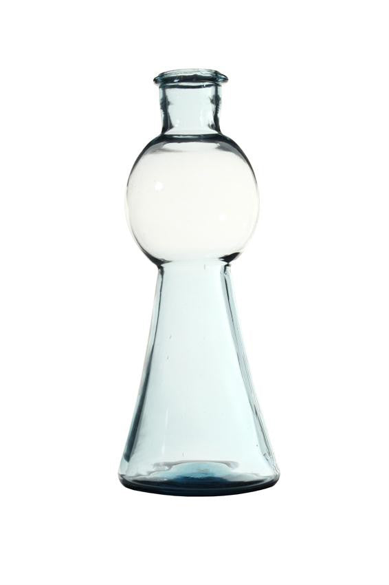 Glass Vase in smoke blue HK Living