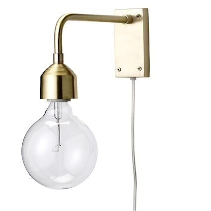 Gold Wall lamp from Bloomingville